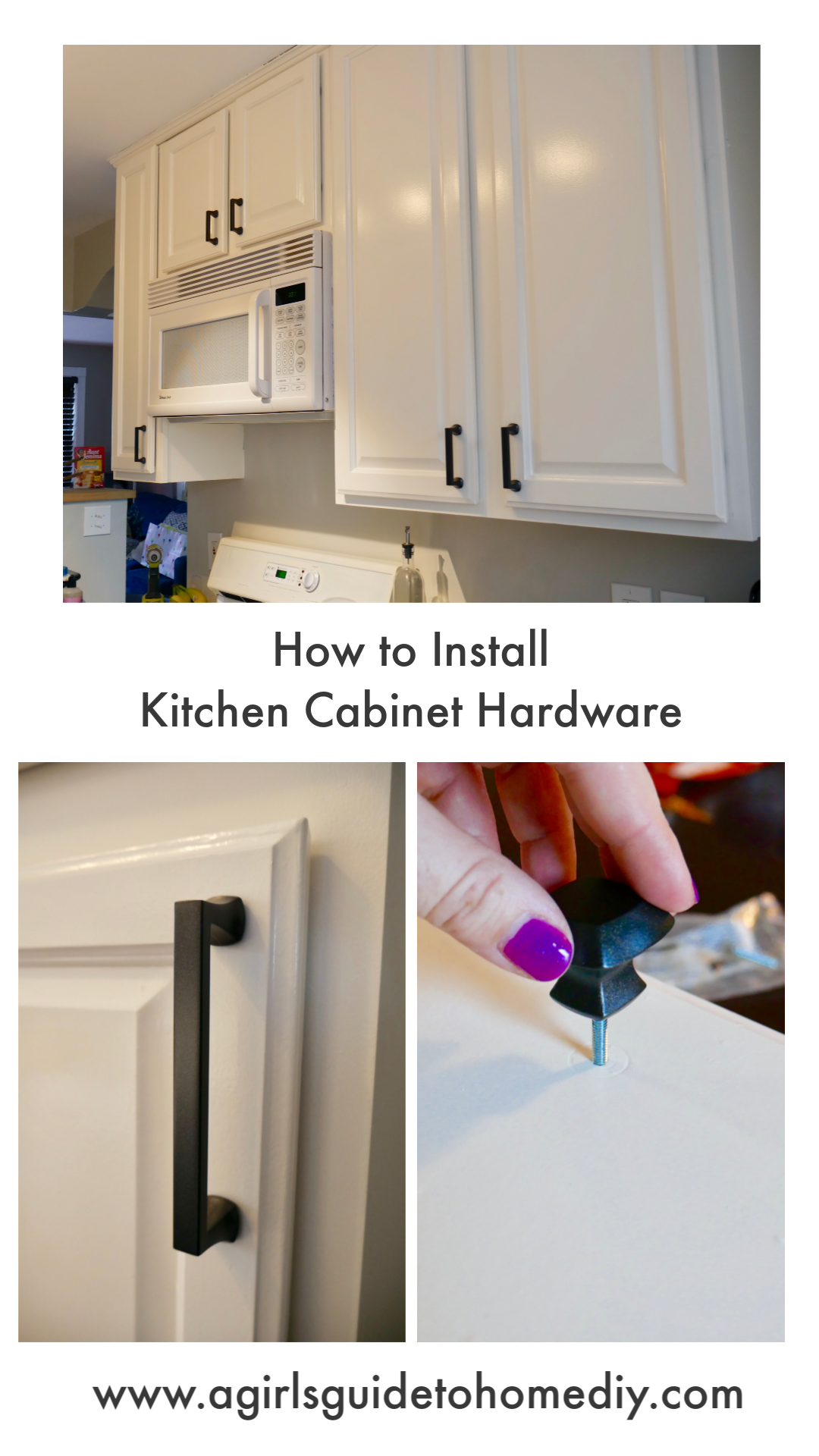 How To Install New Kitchen Cabinet Hardware At A Girl S Guide To