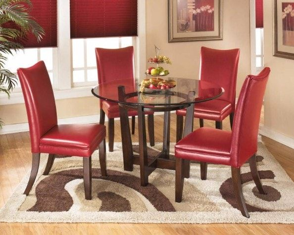 Dining Room Set Charrell by Signature Ashley Design Multi 5 Piece at