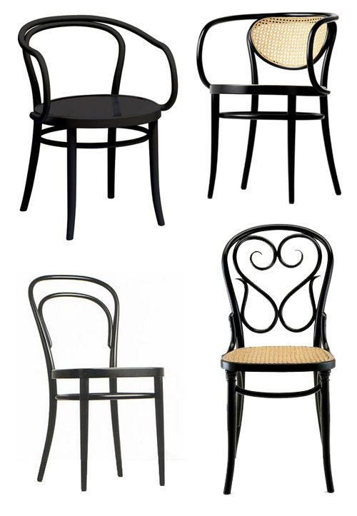 Thonet bentwood chairs furniture Pinterest – Black Bentwood Chair