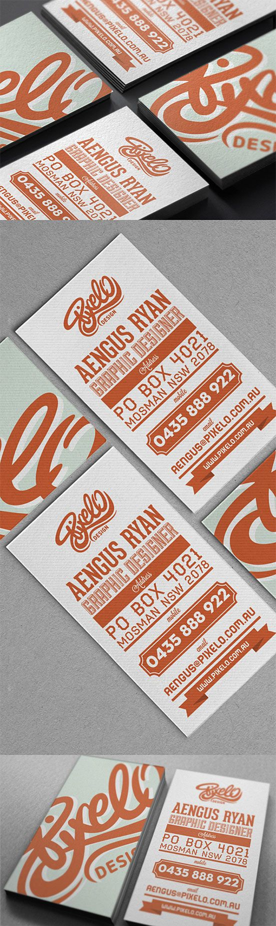 Creative Typography Business Card | Business Cards | The Design ...