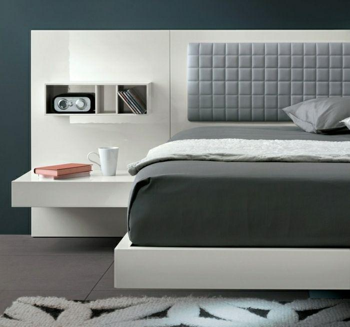 Nachtisch zum Einhängen weiß grau resized Traumhaftes - schlafzimmer weiß grau