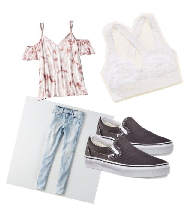 """Friday casual!"" by stellabarnett on Polyvore featuring American Eagle Outfitters, Aerie and Vans"