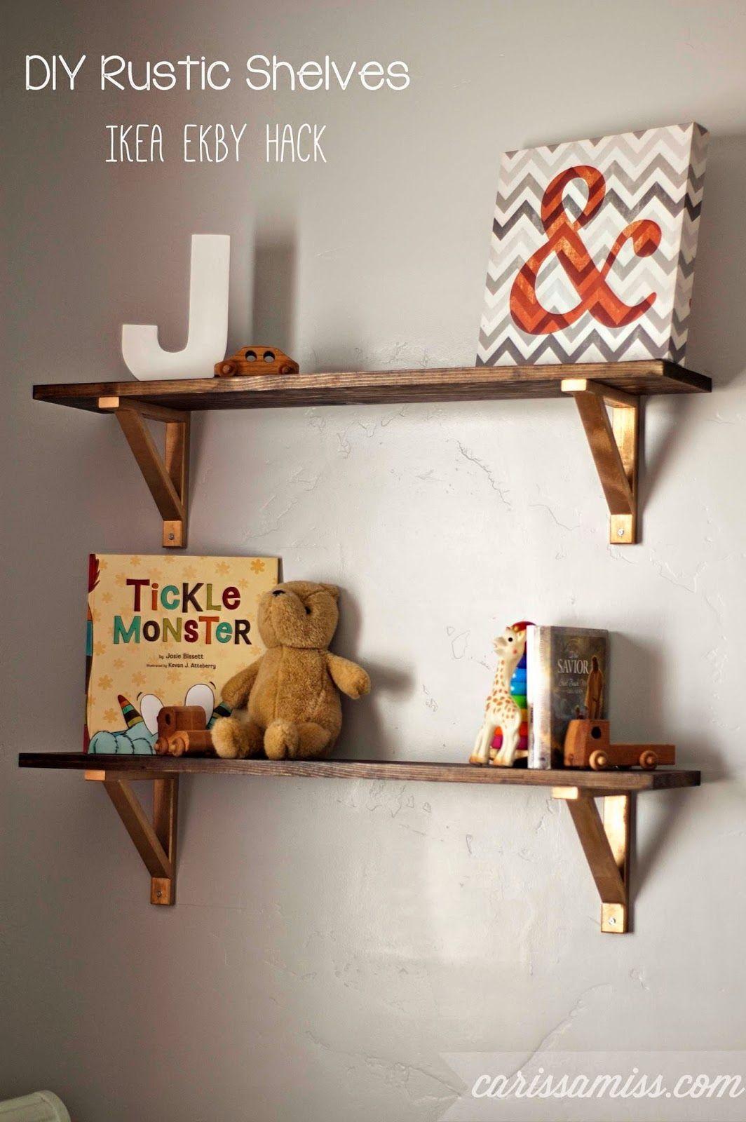 Ikea ekby wood Shelf Brackets Ikea Hacks Ikea ekby