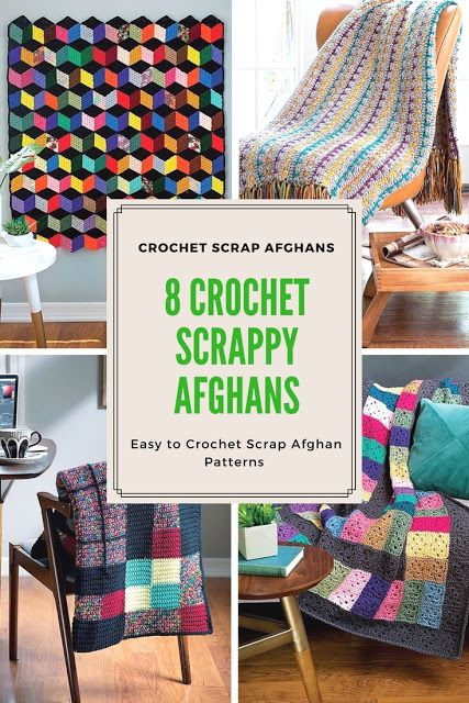 Review Of Crochet Scrappy Afghans Easy To Crochet Eight Scrap
