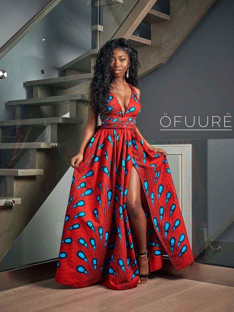 SHOLA African print Maxi Infinity dress