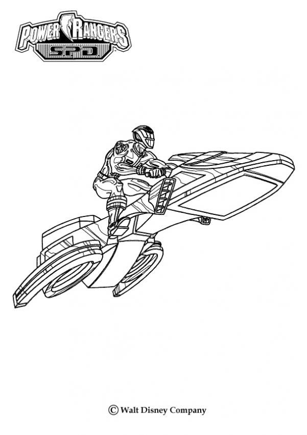 Power Rangers airplane coloring page. More Power Rangers coloring ...