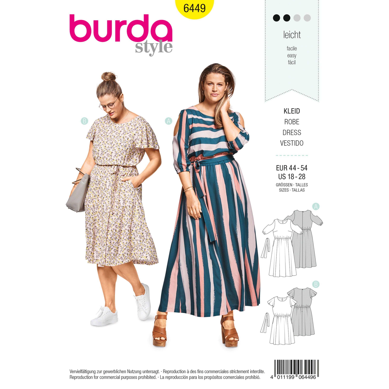 Burda Burda Style Pattern B6449 Women S Summer Dresses Summer Dress Sewing Patterns Summer Dress Patterns Sewing Summer Dresses [ 3000 x 3000 Pixel ]