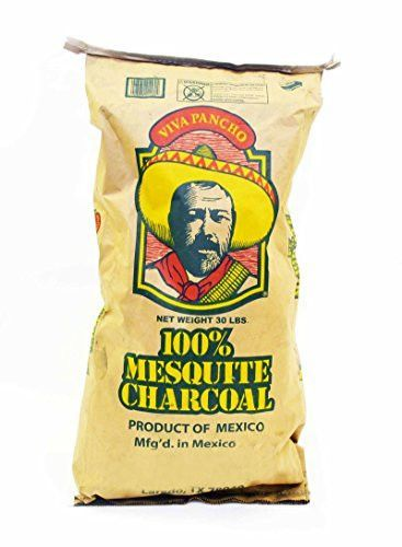 30 Lb Bag of Authentic & Natural 100% Mesquite Wood Lump Charcoal.