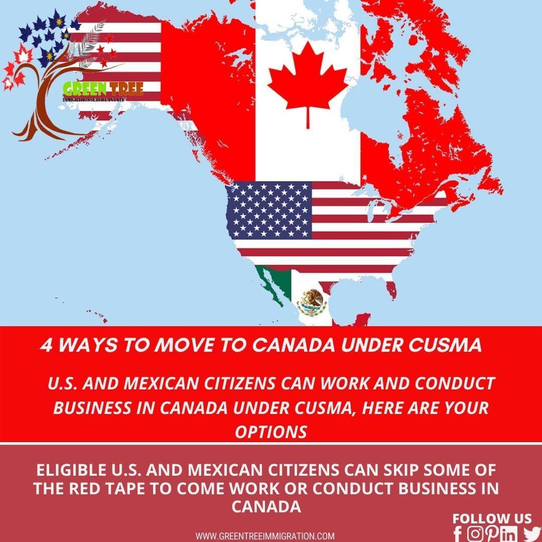 4 Ways To Move To Canada Under Cusma Moving To Canada Canada Immigration