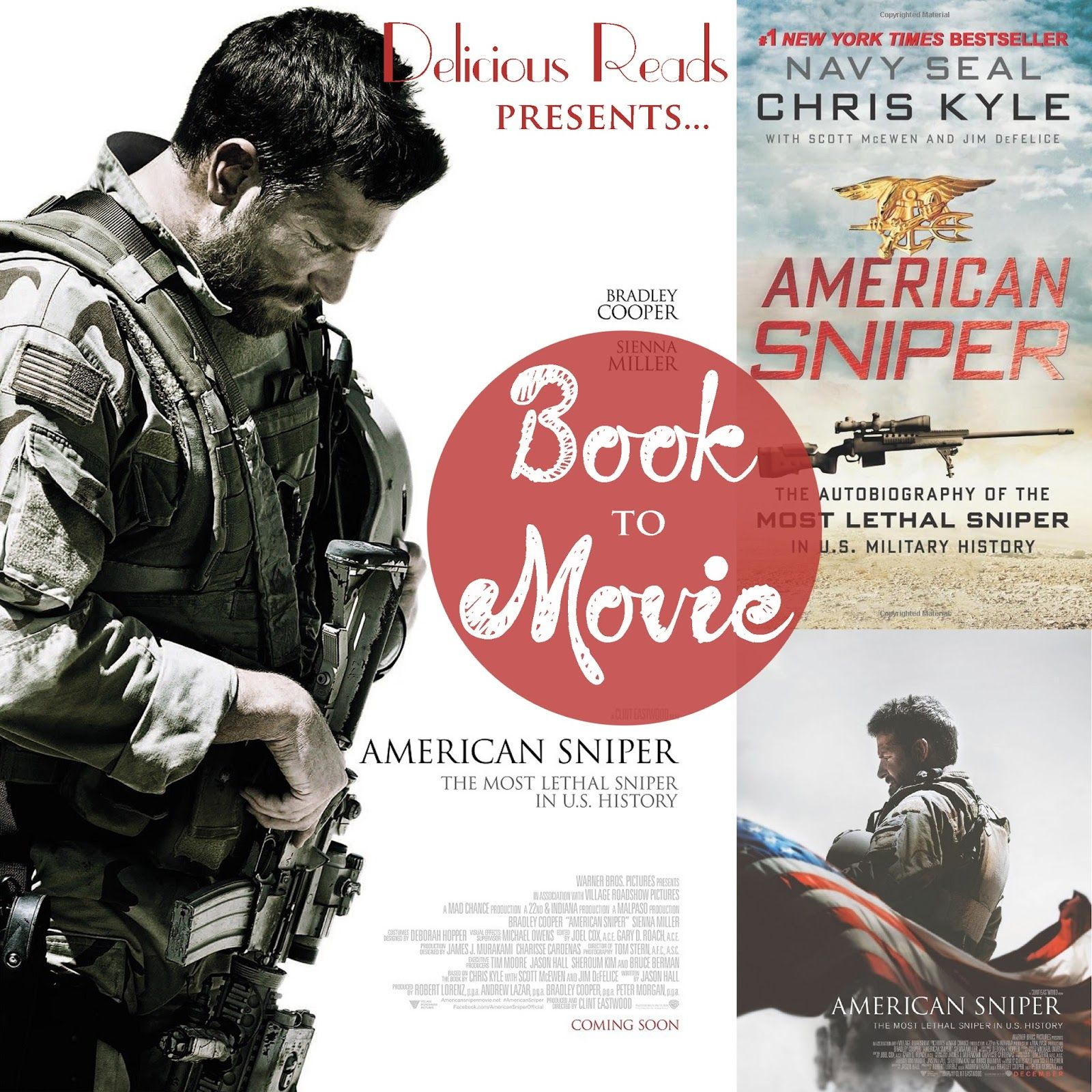 American Sniper {Book to Movie} starring Bradley Cooper