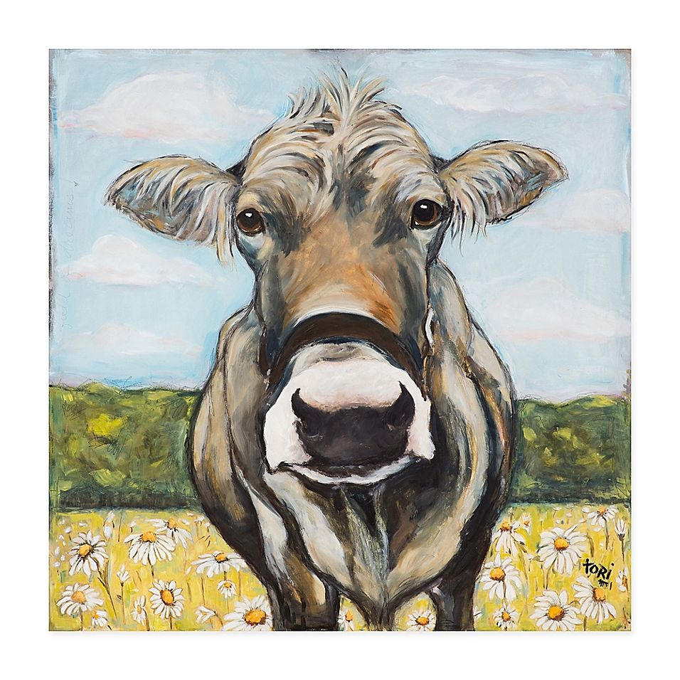 Marmont Hill Spring Cow Canvas Wall Art Canvas Wall Art Animal