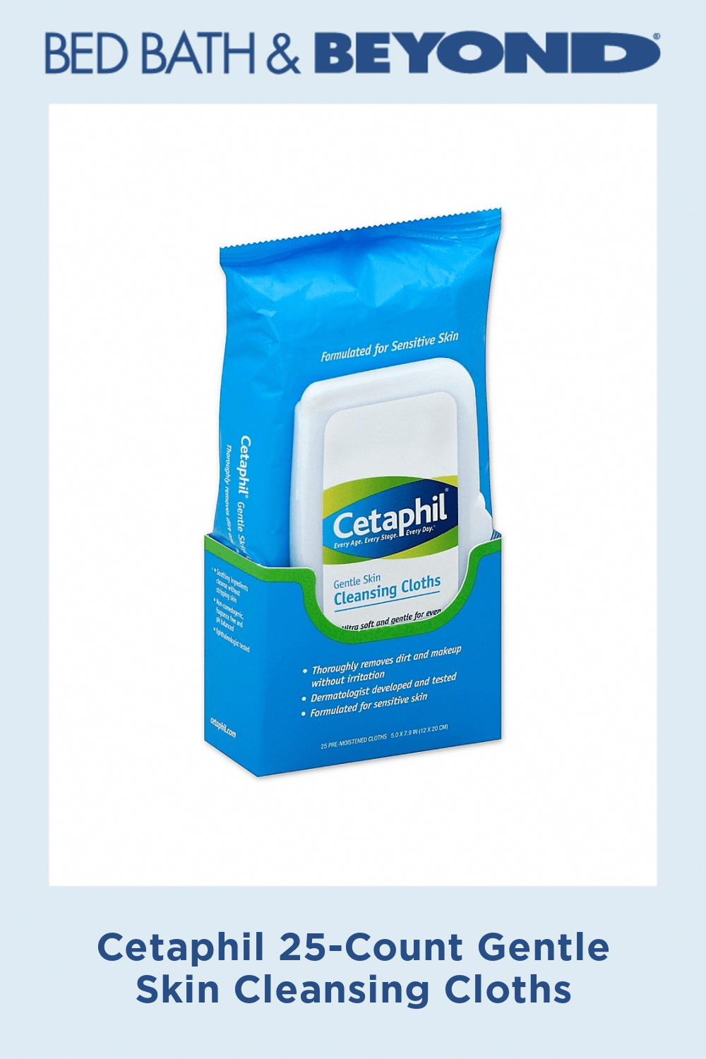 Cetaphil 25Count Gentle Skin Cleansing Cloths