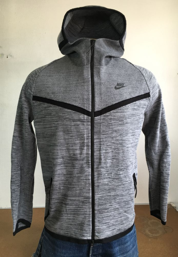 0b6d2019adf8 NIKE Men s Tech Knit Windrunner Jacket Cool Grey 728685 043 Fleece Hoodie  NWOT M  Nike  Hoodie