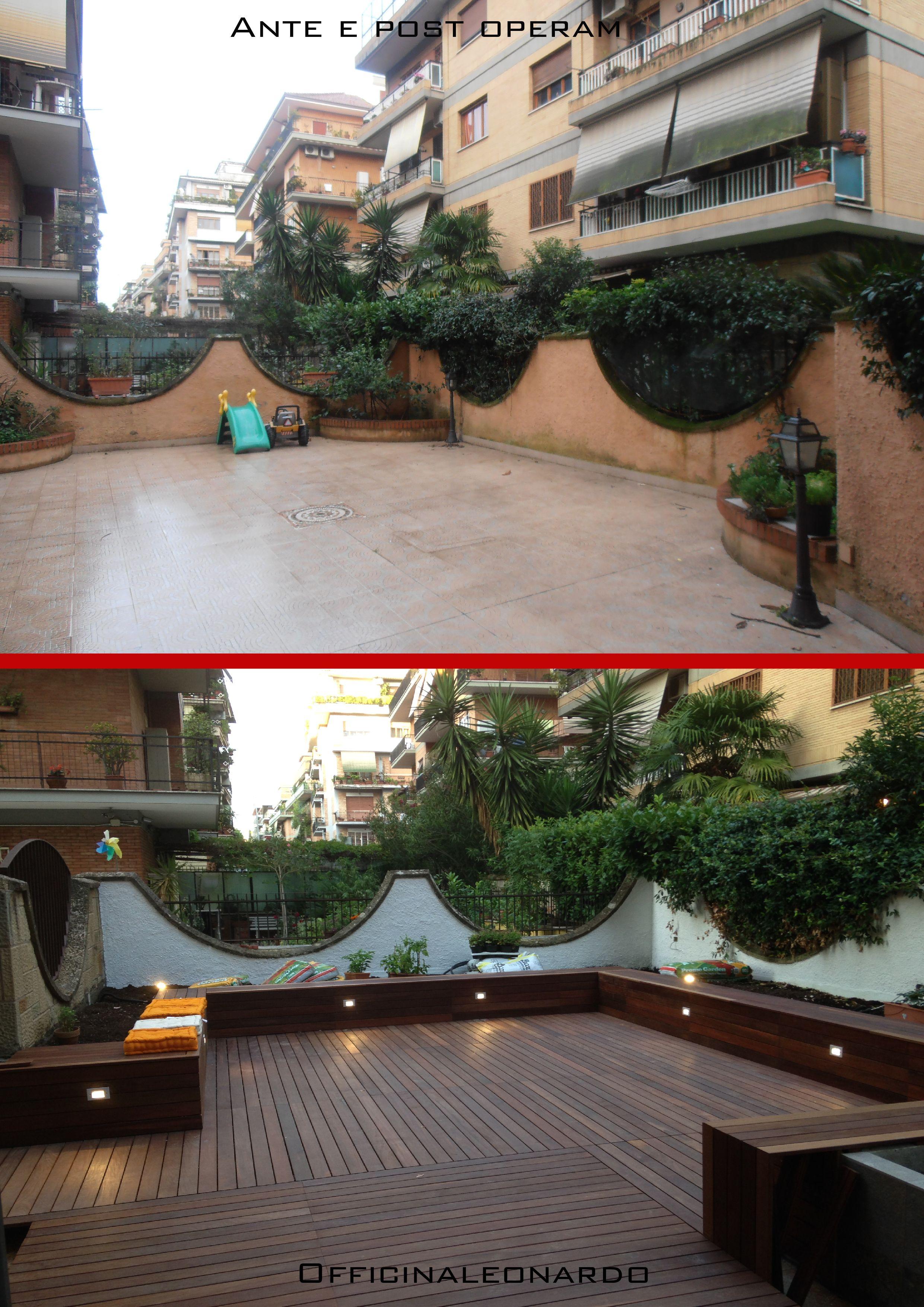 Pavimenti In Legno Per Terrazzi ristrutturazione di un terrazzo; il pavimento in listoni in