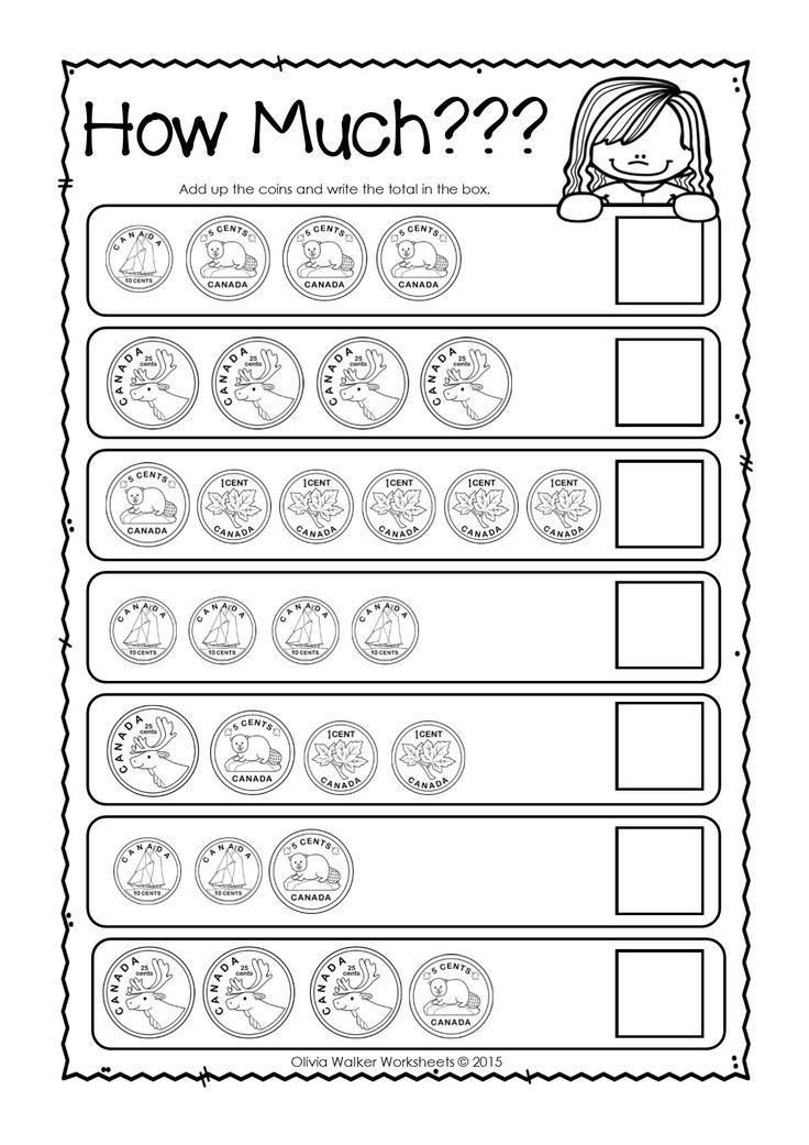 Canadian Money Worksheets / Printables / Kindergarten