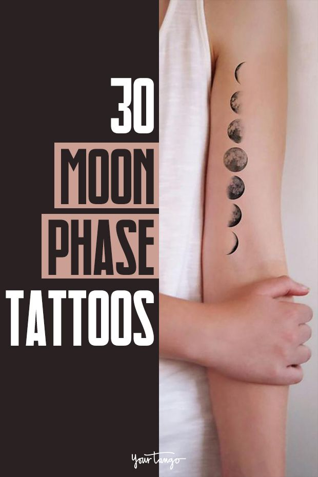 30 Minimalist Moon Phase Tattoo Ideas For Your Next Ink Moon Phases Tattoo Moon Cycle Tattoo Moon Tattoo Designs