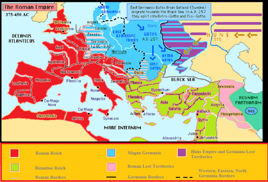 where was germania located - Google Search | Roman empire ...