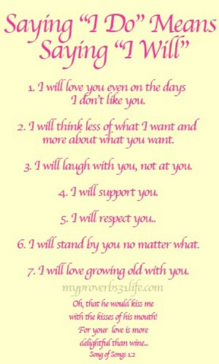 Romantic Wedding Vows Examples For Her and For Him | Husband wife ...