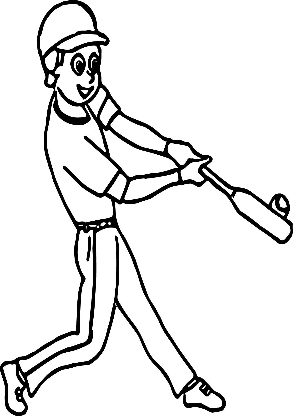 Awesome Popcorn Bucket Playing Baseball Coloring Page Baseball