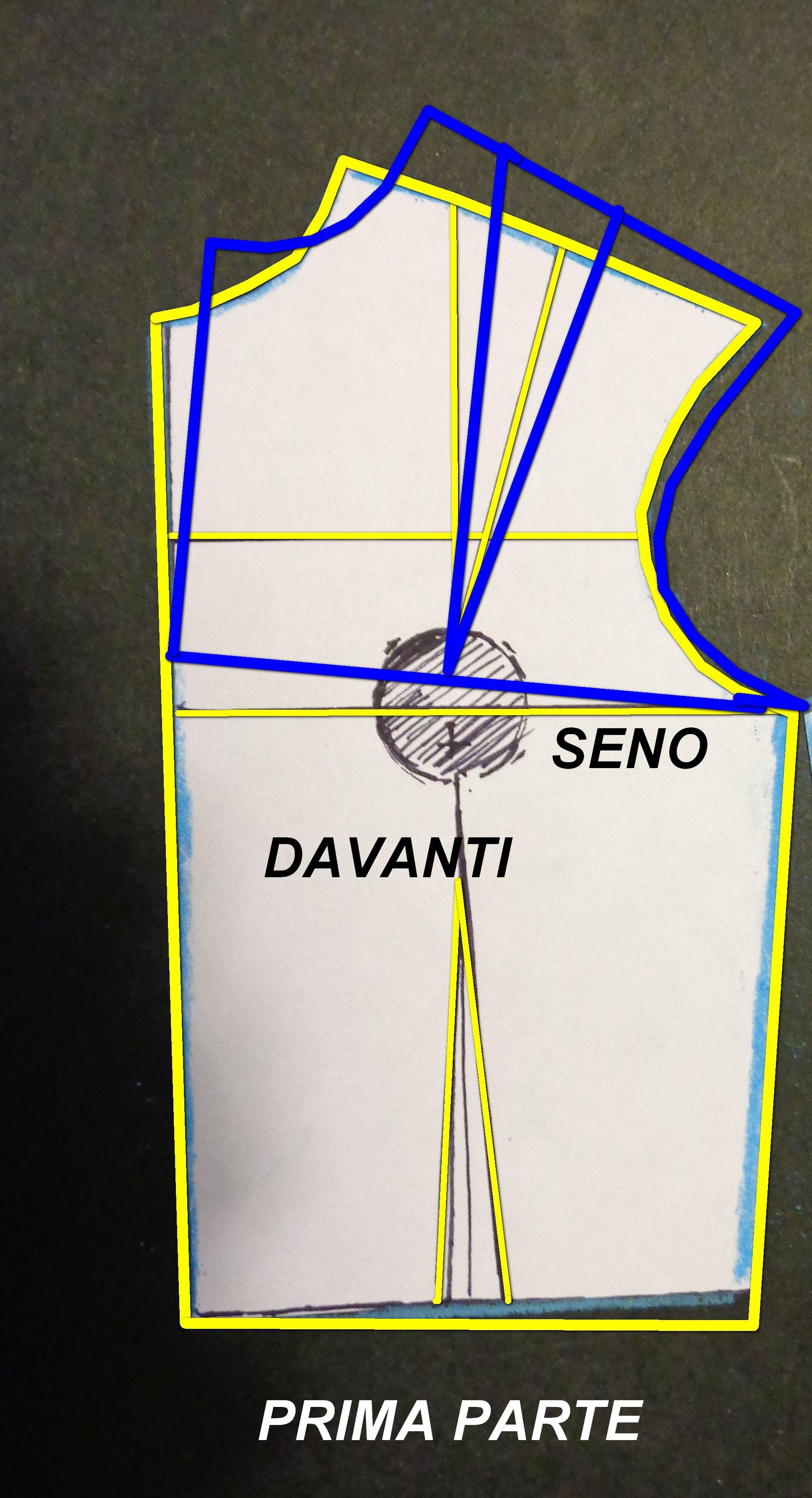 602c29ff8a48 correzione dei difetti direttamente sul cartamodello del corpino base a  secondo dei vari difetti della schiena