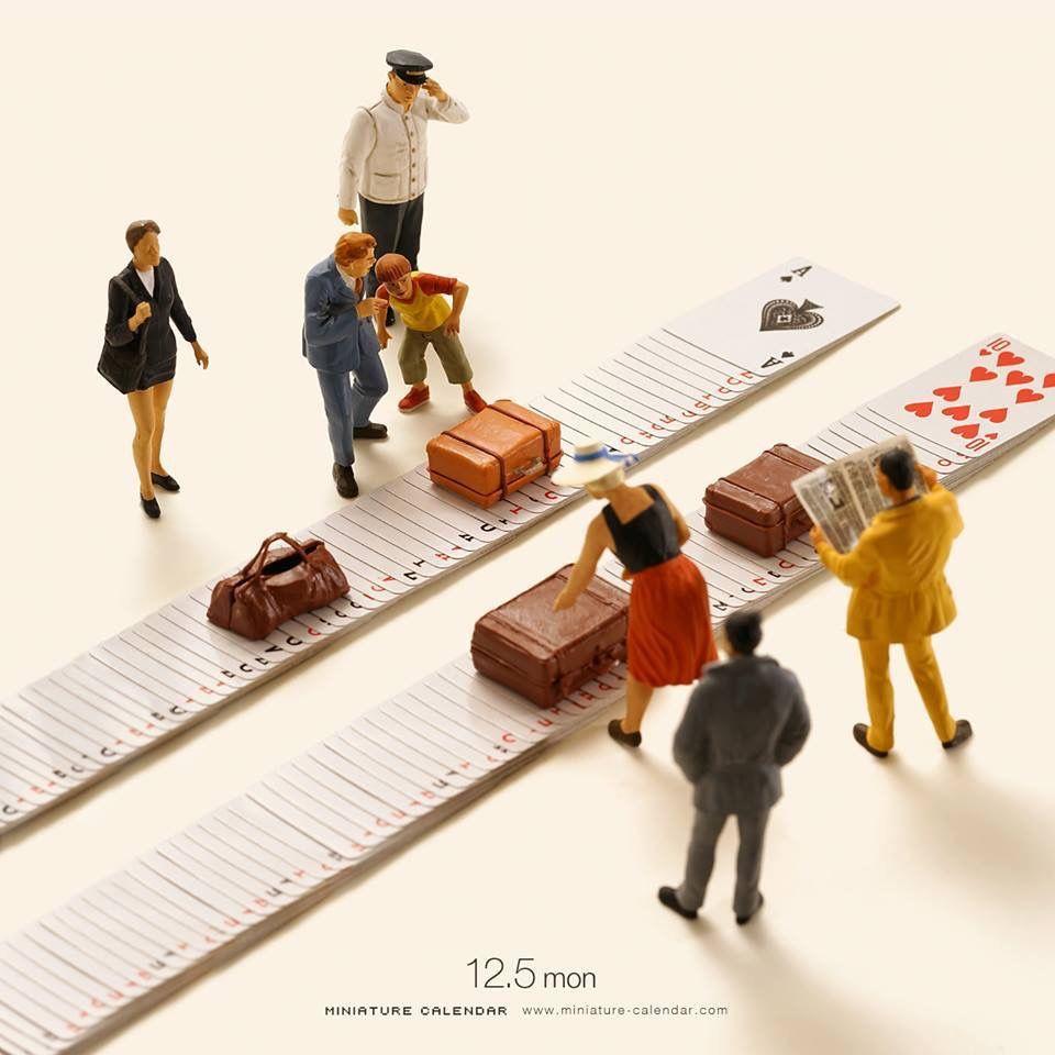 Luggage Carousel Miniature Calendar Miniatures