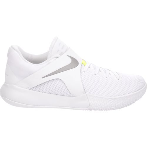 nike basketball shoes all white. nike men\u0027s zoom live low top basketball shoes (white/reflective silver/volt, size 14) - at academy sports all white s