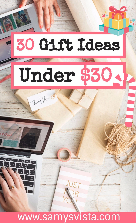 30 gift ideas under 30 samysvista 30 gifts gifts gift s