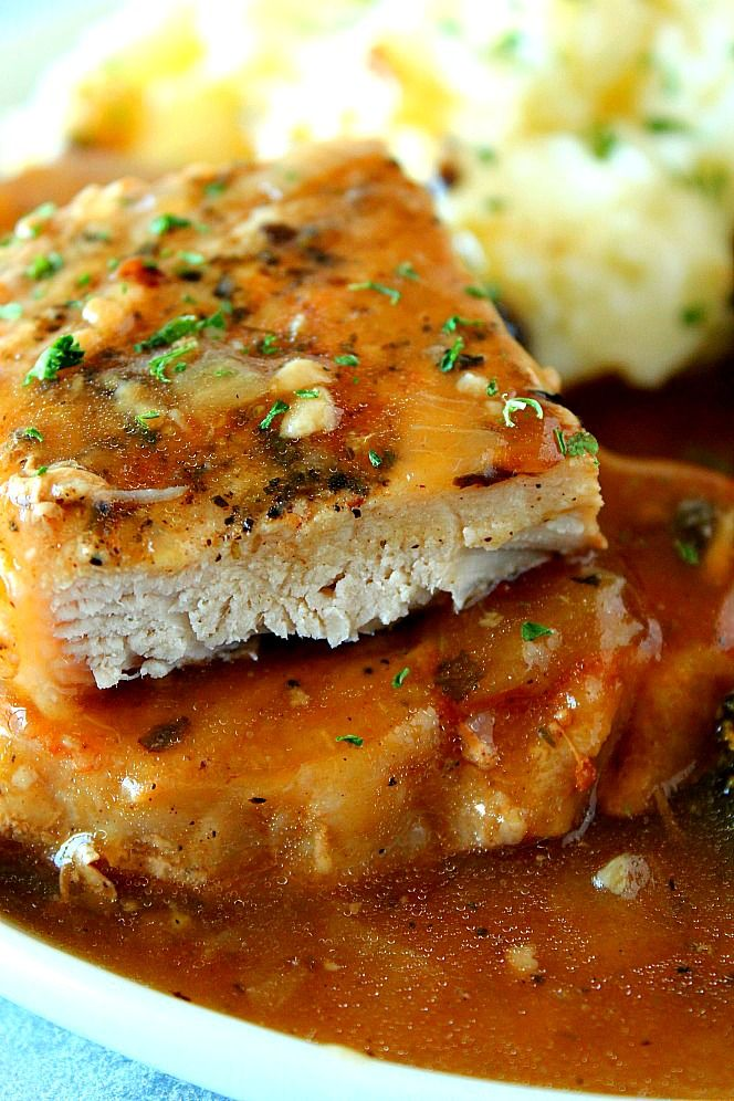 Instant Pot Smothered Pork Chops Recipe Saucy Pork Chops Cooked In The Instant Pot With O