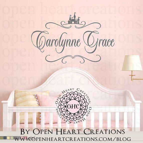 Crown Princess Gracie Large Wall Sticker//Vinyl Bed Room//Nursery Art Girl//Baby