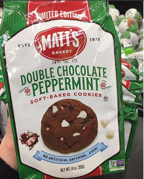 Matts Limited Edition Double Chocolate Peppermint Soft Baked Cookies Yum Spotted At Walmart