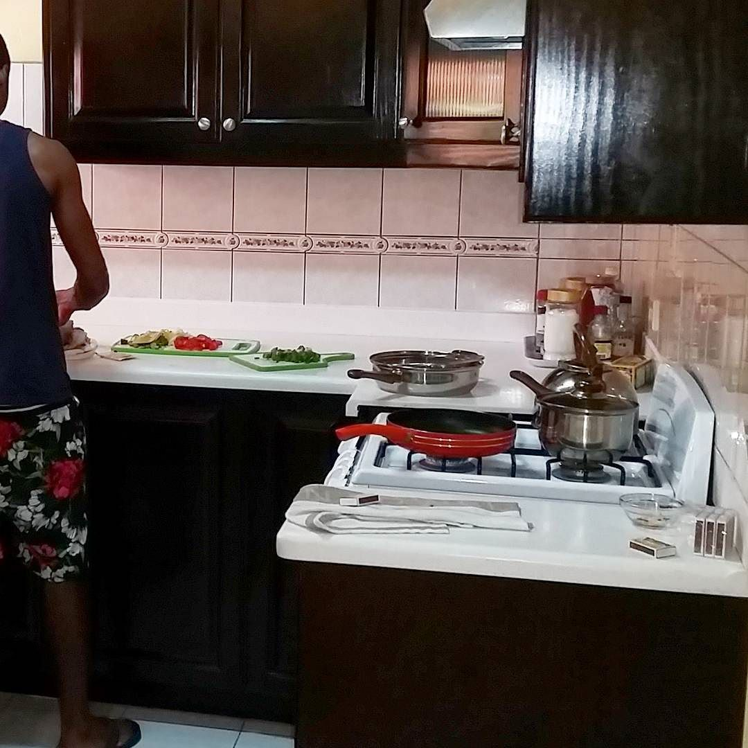 We offer a kitchen that's always clean & has the supplies you need Don't feel like cooking? We've got someone who can do it for you for a small fee  DM me  I promise you the price is cheaper than order take out in your hometown  #villadelcamino #towerhill #towerisle #ochorios #ochi #northcoast #jamaica #jamvaca #jamaicanvacation #travelonbudget #affordablevacations #onceyougoyouknow by jamvaca