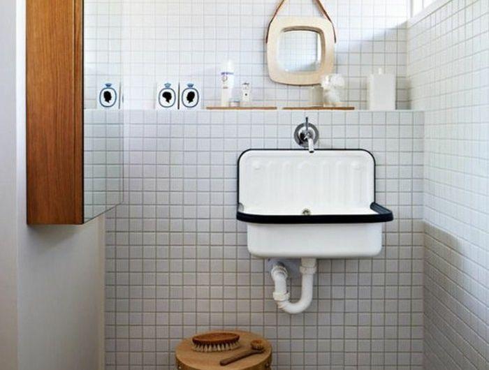 un joli lavabo retro pour votre salle de bain