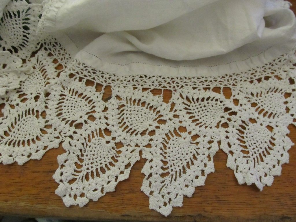 Vintage Crochet Pineapple Pattern Edge - Dishes and Doilies ...