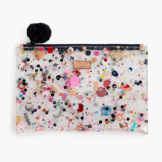 Large Vinyl Pouch With Glitter Glitter Bag Pouch Kids Bags