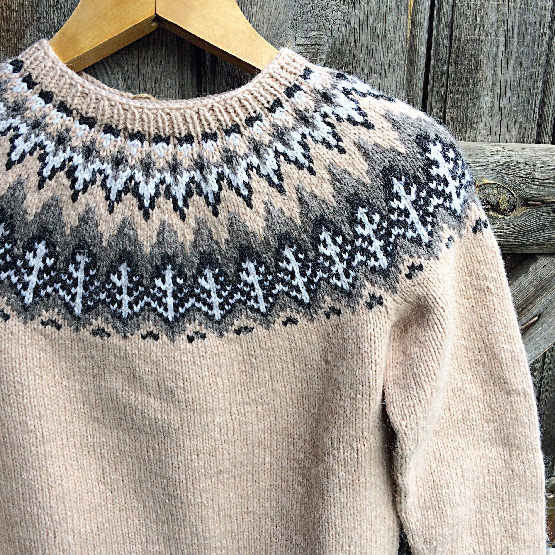 Icelandic sweater. Lopapeysa. Handmade.Handknitted Icelandic Fair ...