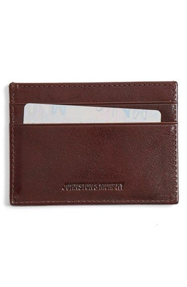 d3f1a32dfb3 Free shipping and returns on Johnston   Murphy Leather Card Case at  Nordstrom.com. A slim case made from glossy