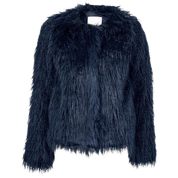 Samsoe & Samsoe Sophia Faux Fur Jacket (1,865 MXN) ❤ liked on ...