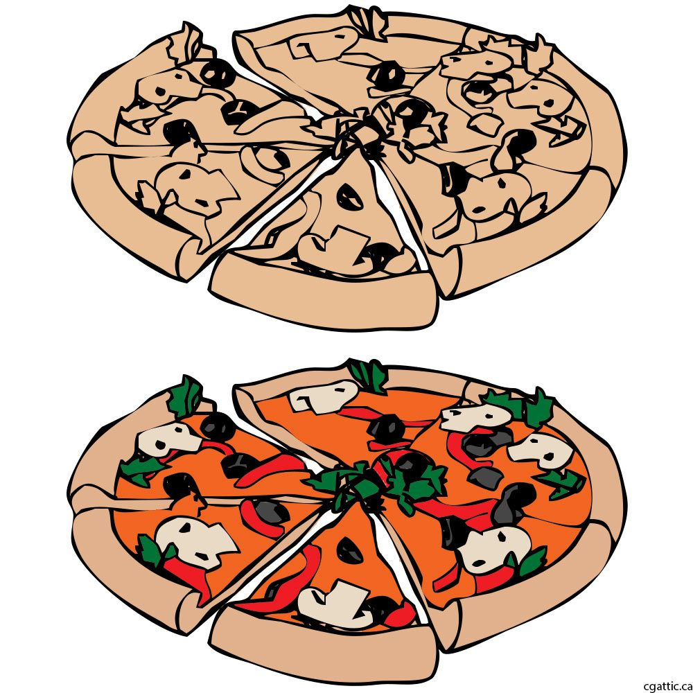af0bd15f Cartoon Pizza Drawing in 4 Steps With Photoshop in 2019   pizza ...