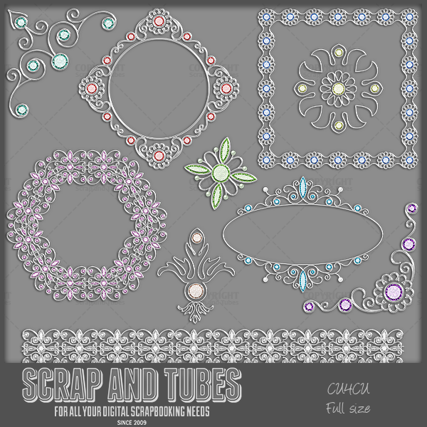 ► New in Stores >>> Mix Gold / Silver Elements ◄ Full Size Digital Scrapbooking Elements (300dpi) • 10 mixed gold elements with diamonds of all colors • Format: png • CU4CU/CU ► MORE INFO HERE: http://scrapandtubes.blogspot.com/2015/03/new-in-stores-mix-gold-silver-elements.html