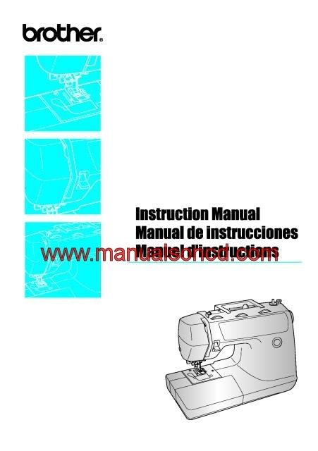Brother PS-3700 Sewing Machine Instruction Manual Pdf 80 page - instruction manual