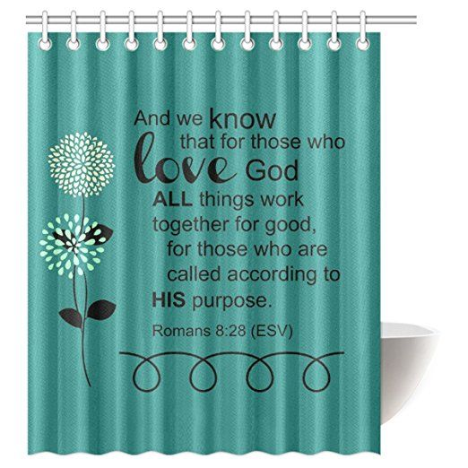 Interestprint Bible Verse Waterproof Polyester Fabric 60 Quot W X 72 Quot H Shower Curtain And Hooks Fabric Shower Curtains Shower Curtain Shower