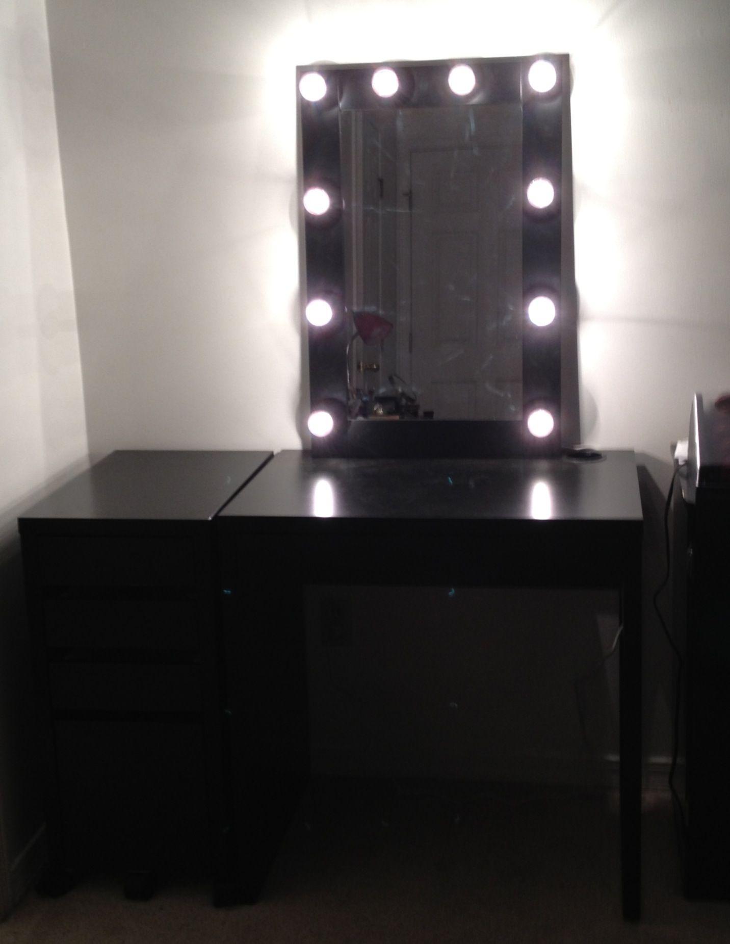 diy lighted makeup vanity. my DIY lighted makeup mirror  vanity 350 compared to vanitygirlhollywood s at