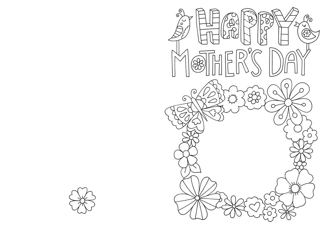 Free Mother S Day Card Colouring Download Mothers Day Card