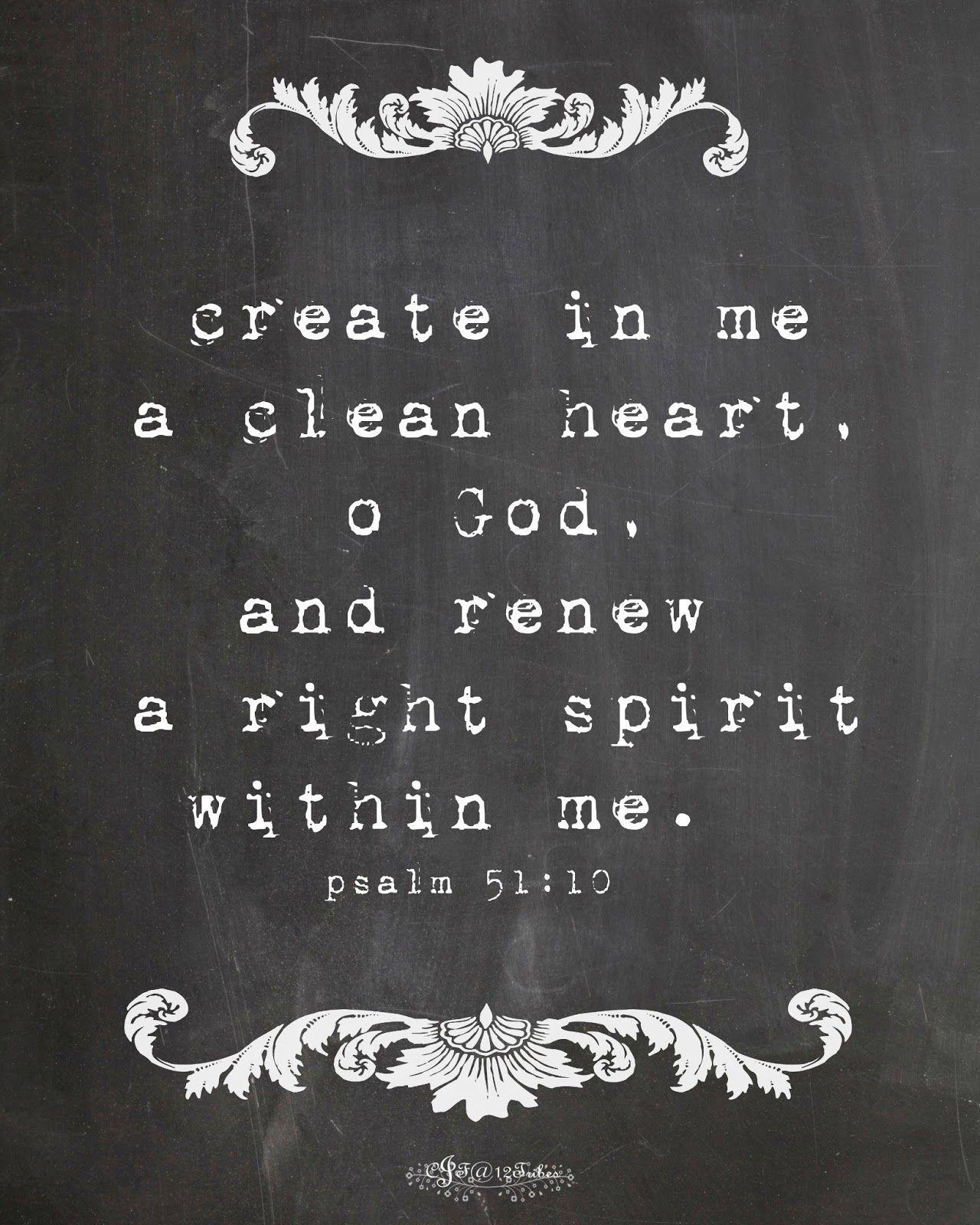 Psalms 51 10 12 · Biblical Inspirational QuotesEaster ...