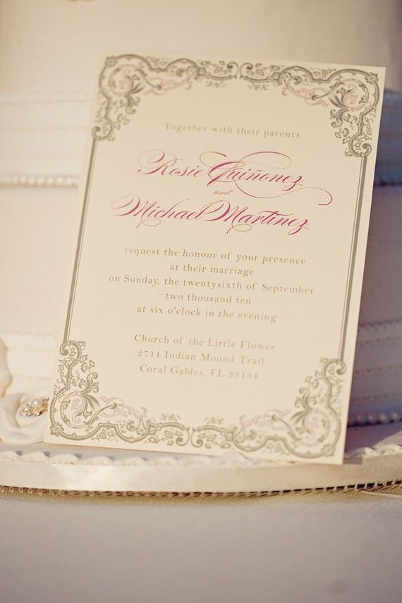 Vintage Glam Printable DIY Wedding Invitation by blushprintables ...
