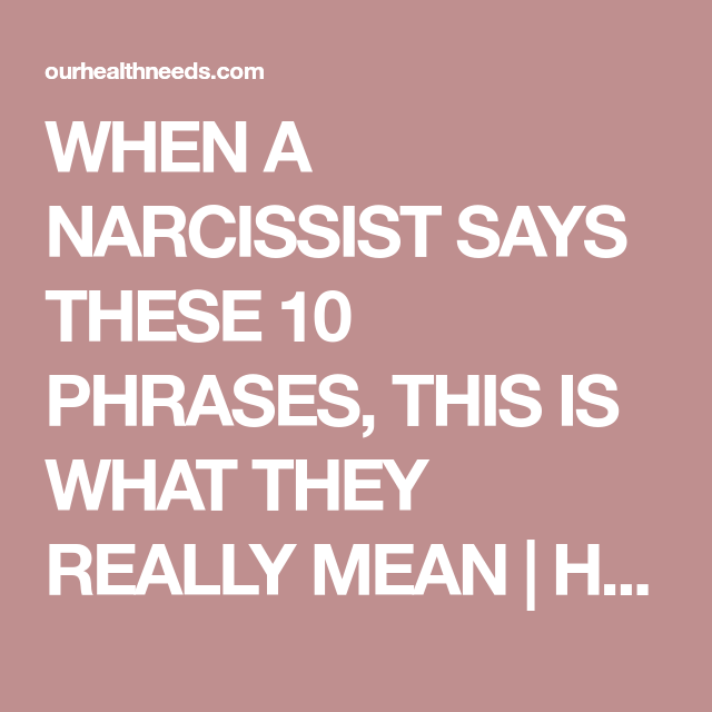 When a narcissist says its over