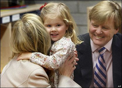 Princess Amalia and King Willem Alexander