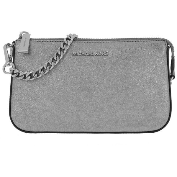 Michael Kors Evening Bag Clutch Md Chain Pouchette Lt Pewter In