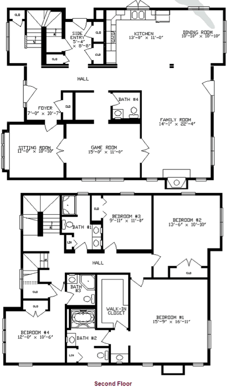 2 story mobile home floor plans