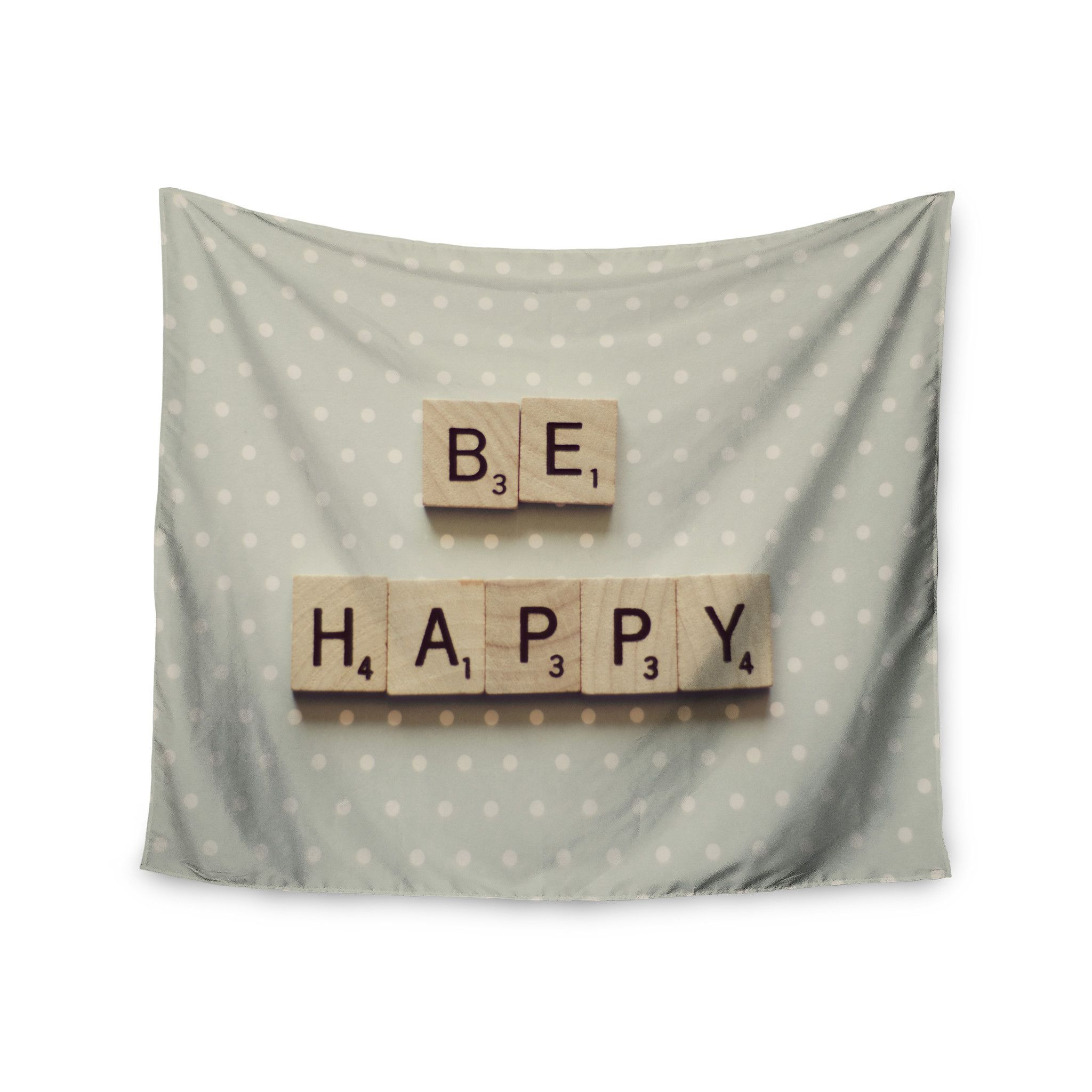 "Cristina Mitchell ""Be Happy"" Wall Tapestry"